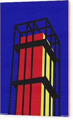 Arne Jacobseb Tower Wood Print by Asbjorn Lonvig