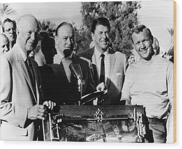 Arnold Palmer Right, Receives The Bob Wood Print by Everett