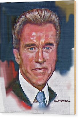 Arnold Schwarzenegger Wood Print