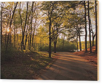 Around The Bend Wood Print