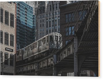 Around The Corner, Chicago Wood Print
