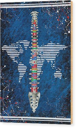 Around The World Wood Print by Brent Buss