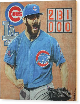 Arrieta No Hitter - Vol. 1 Wood Print