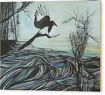 Arrival Of Autumn Wood Print by Anna  Duyunova