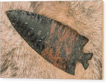Arrow Point Wood Print by Carol Leigh