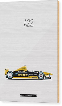 Arrows Asiatech A22 F1 Poster Wood Print