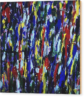 Art Abstract Painting Modern Color Wood Print