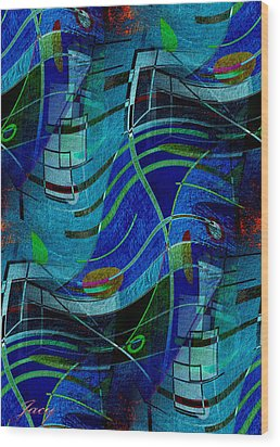 Art Abstract With Culture Wood Print by Sheila Mcdonald