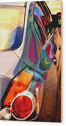 Art Car Wood Print by David Gilbert