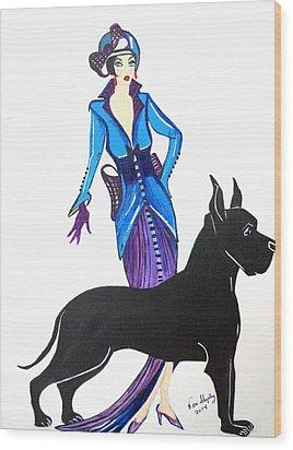Art Deco 1920's Myra Wood Print