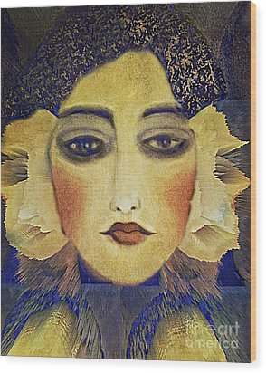 Wood Print featuring the digital art Art Deco  Beauty by Alexis Rotella