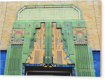Art Deco Facade At Old Public Market Wood Print