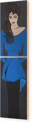 Art Deco  Girl Waiting Wood Print