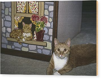 Wood Print featuring the photograph Art Imitates Life by Sally Weigand