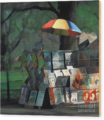 Art In The Park - Central Park New York Wood Print