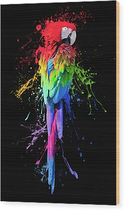 Art Interrupted Wood Print by Janet Fikar