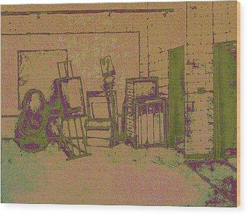 Art Intro Mixed Media Wood Print by Hye Ja Billie