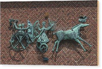 Art Work In Ystad, Sweden Wood Print