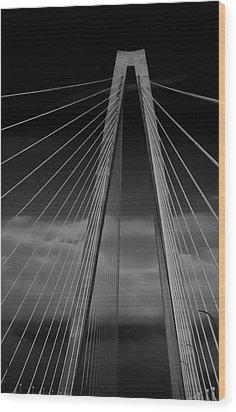 Arthur Ravenel Jr Bridge Wood Print by DigiArt Diaries by Vicky B Fuller