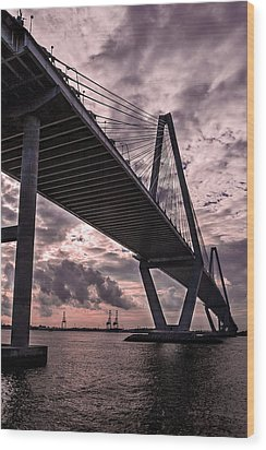 Arthur Ravenel Jr. Bridge Wood Print by Drew Castelhano