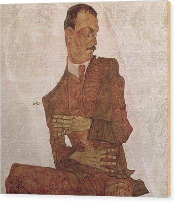 Arthur Roessler Wood Print by Egon Schiele