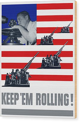 Artillery -- Keep 'em Rolling Wood Print by War Is Hell Store