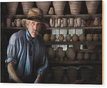Artist - Potter - The Potter II Wood Print by Mike Savad