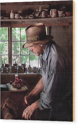 Artist - Potter - The Potter IIi Wood Print by Mike Savad