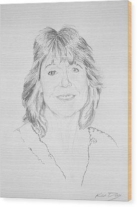 Artist Kelly Goswick Wood Print by Ken Day