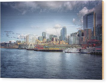 Artistic In Seattle Wood Print by Spencer McDonald