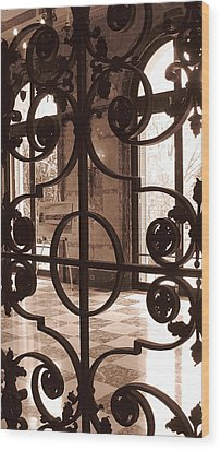 Artist's Easel Wood Print by Colleen Kammerer