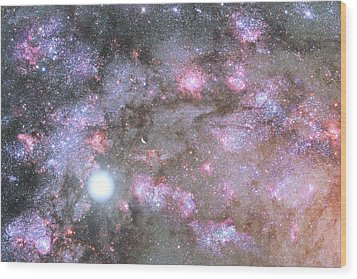Wood Print featuring the digital art Artist's View Of A Dense Galaxy Core Forming by Nasa