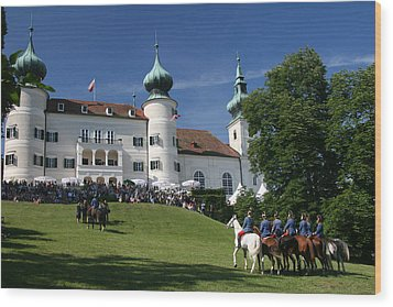 Wood Print featuring the photograph Artstetten Castle In June by Travel Pics