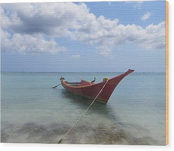 Wood Print featuring the photograph Aruba by Jean Marie Maggi