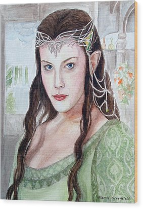 Arwen Wood Print by Mamie Greenfield