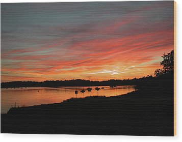 Arzal Sunset Wood Print