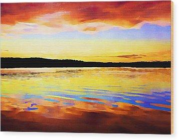 As Above So Below - Digital Paint Wood Print