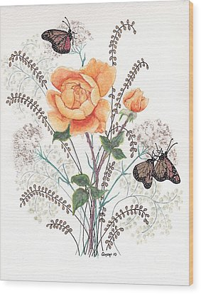 As I Ride The Butterfly Wood Print by Stanza Widen
