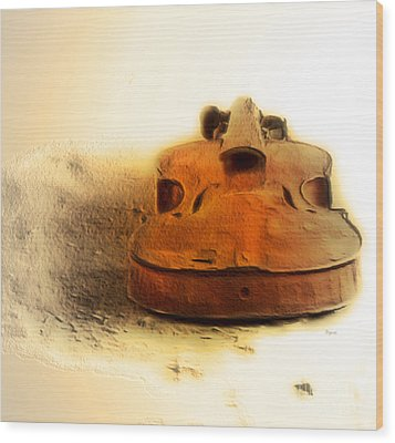 As Sound Fossils  Wood Print by Steven Digman