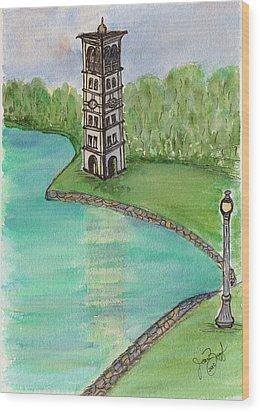 As The Bell Tolls Wood Print by Joan Zepf