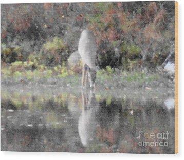 As The Deer IIi Wood Print by Daniel Henning