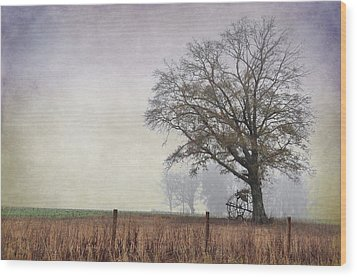 As The Fog Sets In Wood Print by Jan Amiss Photography