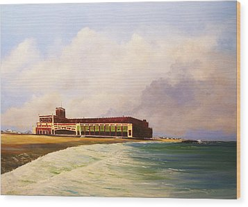 Asbury Park Convention Hall Wood Print by Ken Ahlering