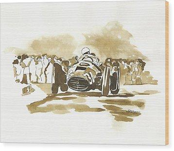 Ascari Wood Print by Francoise Villibord Pointeau