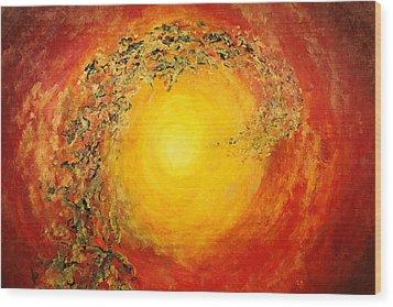 Ascending Light Wood Print by Tara Thelen - Printscapes