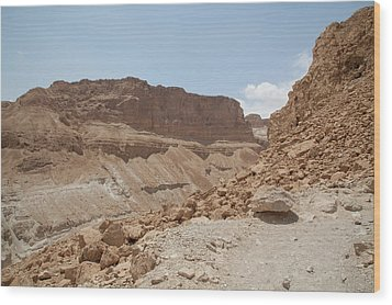 Ascension To Masada - Judean Desert, Israel Wood Print by Yoel Koskas