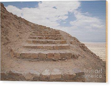 Wood Print featuring the photograph Stairway To Heaven - Masada, Judean Desert, Israel by Yoel Koskas