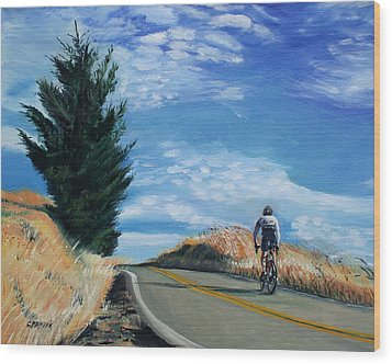 Ascent Wood Print by Colleen Proppe