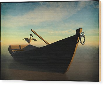 Ashore... Wood Print by Tim Fillingim