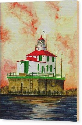 Ashtabula Lighthouse Wood Print by Michael Vigliotti